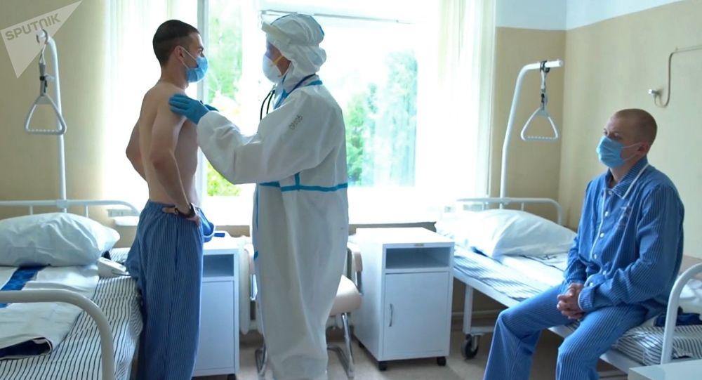 俄国防部:第一组新冠病毒疫苗试验志愿者已从布尔坚科医院出院