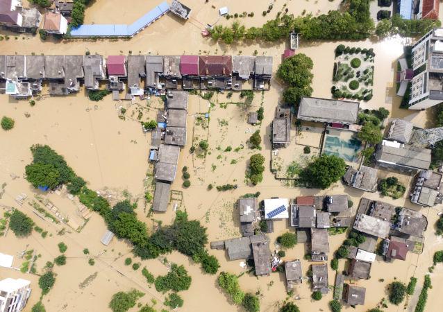 中国江西省洪涝灾害