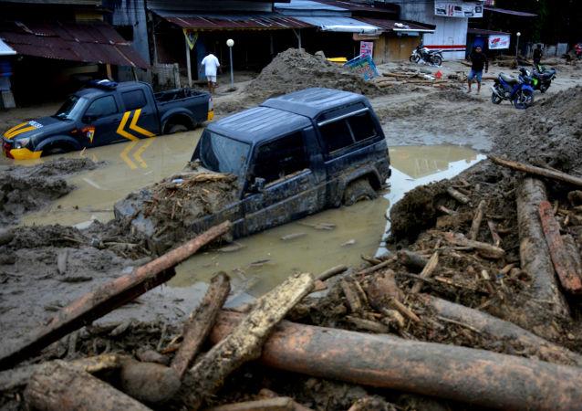 印尼遭遇洪灾