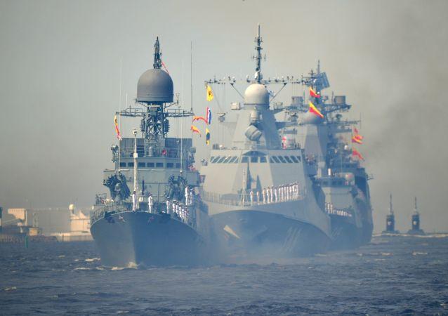 俄海军阅兵式