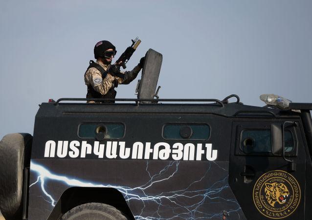 亚美尼亚军人(资料图片)