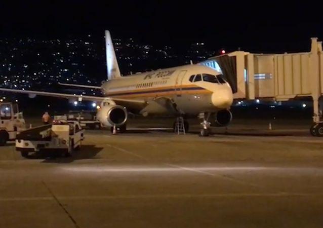 第二架载有专业人员的俄紧急情况部救援飞机在贝鲁特降落
