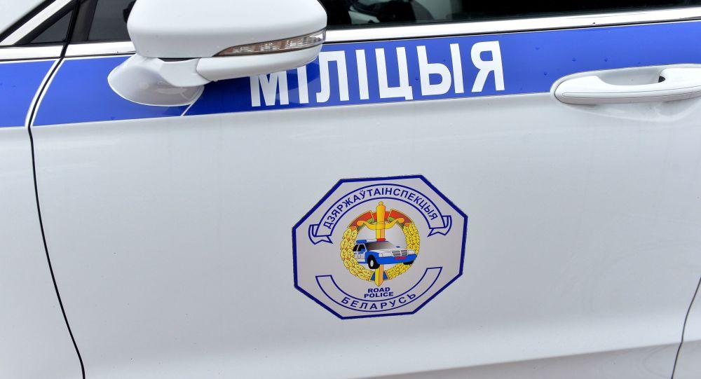 白俄罗斯警察的汽车