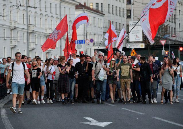 白俄内务部:没有一个人在最近几天的抗议活动中被拘留