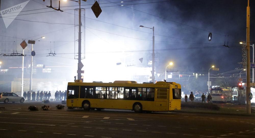 Протесты и беспорядки в Минске после президентских выборов
