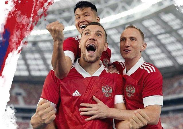 俄罗斯国家足球队新款欧洲杯主场球衣今日亮相