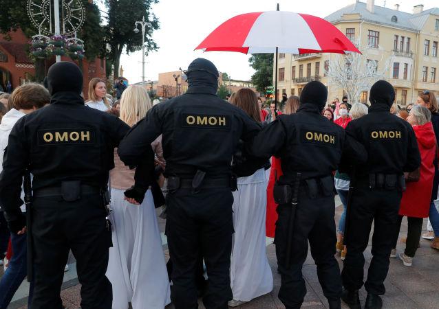 明斯克反对派抗议活动警方逮捕人数升至140人