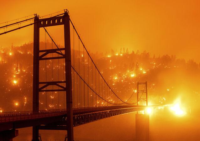 美国,加利福尼亚,火灾