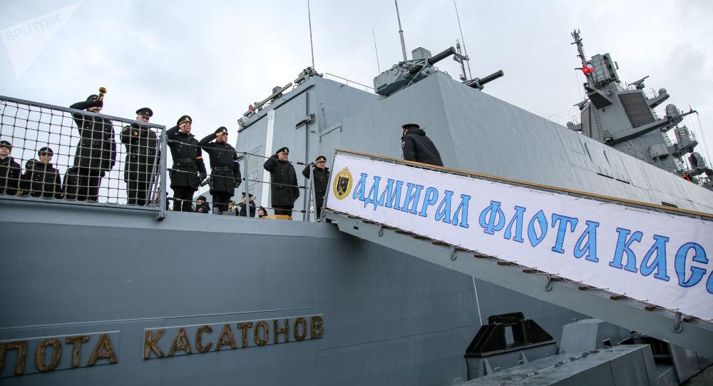 """22350项目的第一艘护卫舰""""卡萨托诺夫海军上将""""号"""