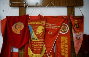 苏联时期,用这种信号旗奖励优秀工作者