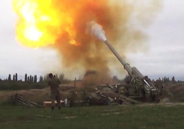阿塞拜疆军队在纳戈尔诺-卡拉巴赫