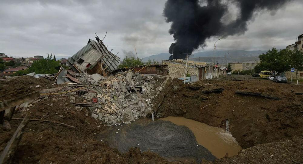 纳卡外交部门称居民点遭到阿塞拜疆炮击