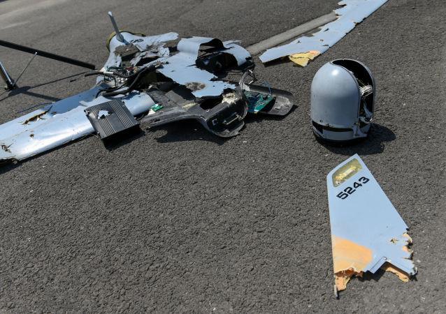 阿塞拜疆无人机的残骸(资料图片)