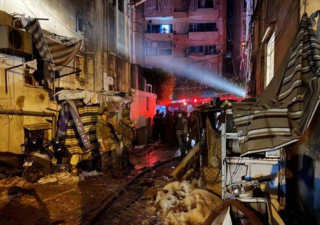 贝鲁特一座燃料库发生爆炸