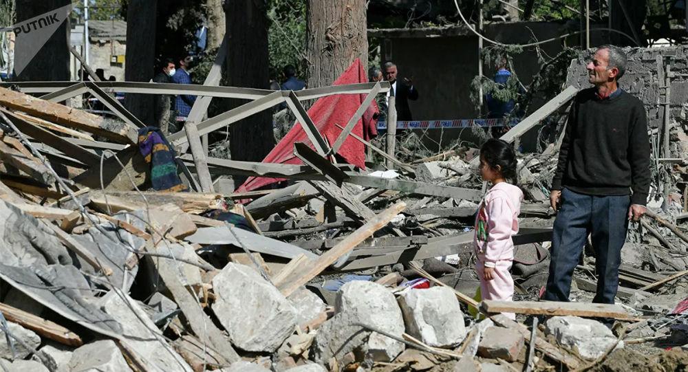 阿塞拜疆通知俄大使馆占贾遭到炮击造成一名俄公民丧生