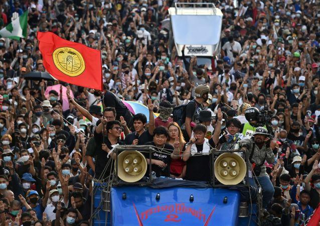 曼谷的抗议活动
