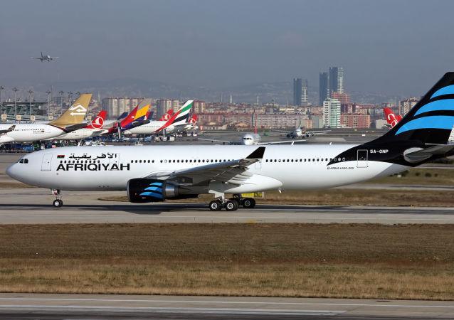 利比亚泛非航空公司的Airbus A330-202客机