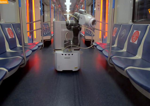 公共场所的消毒机器人