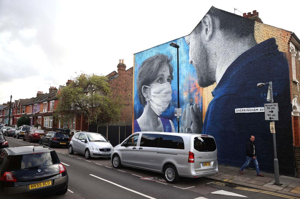 """伦敦一幅名为""""想念你""""的涂鸦"""