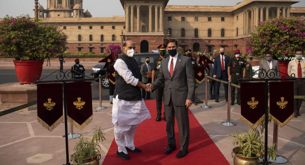 美国防长埃斯珀和印度防长辛格在德里