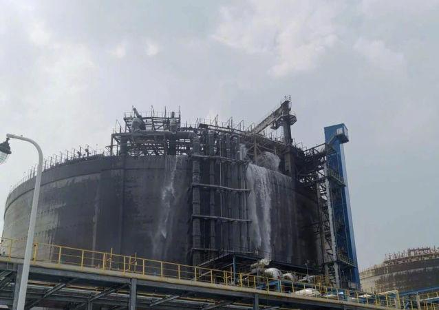 北海液化天然气公司LNG接收站着火事故