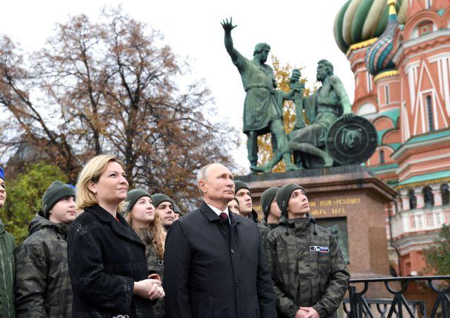 普京在俄罗斯民族统一日之际向全俄人民表示祝贺