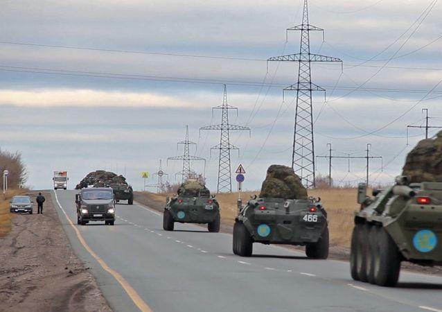 俄国防部:俄罗斯维和部队在亚美尼亚进行卸载和组建车队