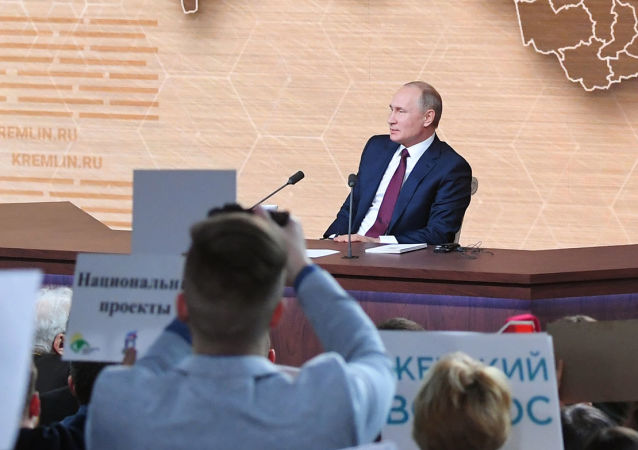 俄电视台计划耗时三小时转播普京年度大型记者会