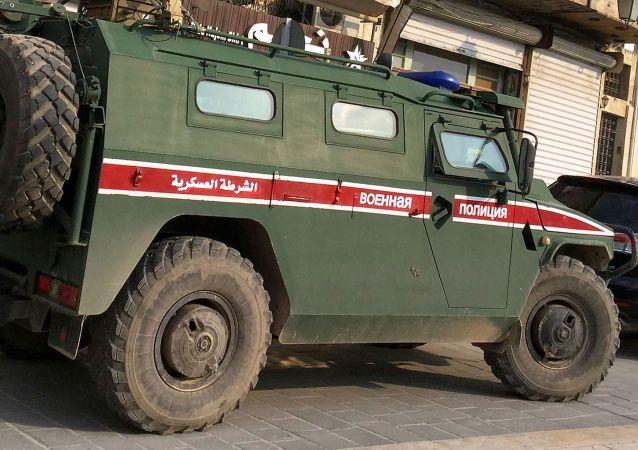 俄军警虎式装甲车在叙利亚阿勒颇