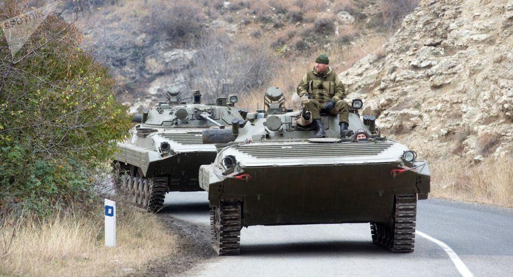 俄罗斯维和人员在纳卡地区