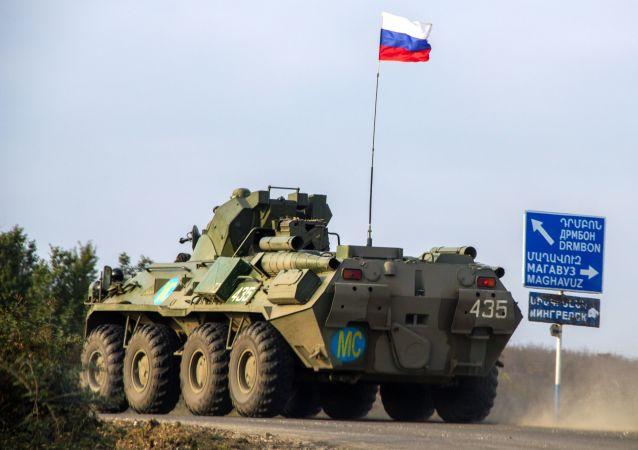 俄军过去一日再次出动22架次飞机向纳卡地区投送维和人员