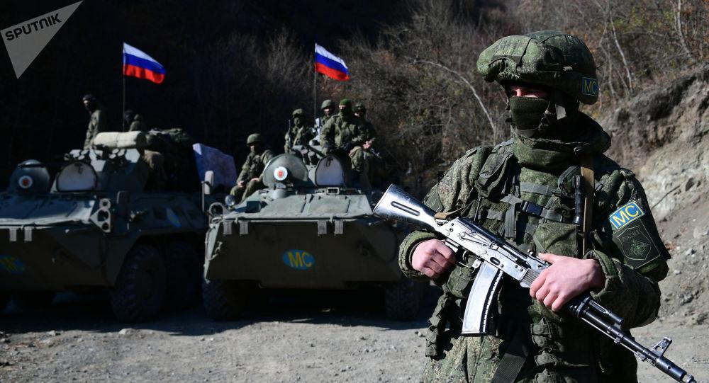 俄维和人员在纳卡地区