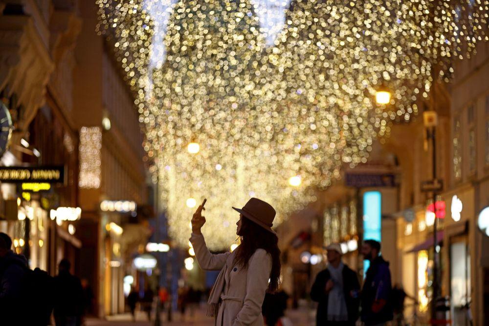 维亚纳的圣诞彩灯