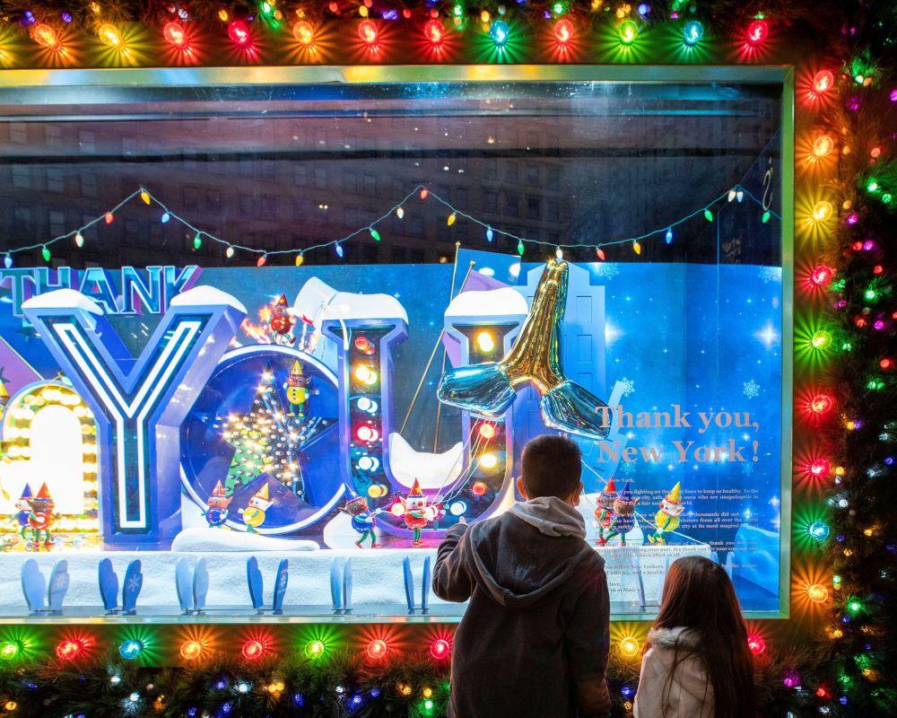 纽约橱窗的圣诞装饰