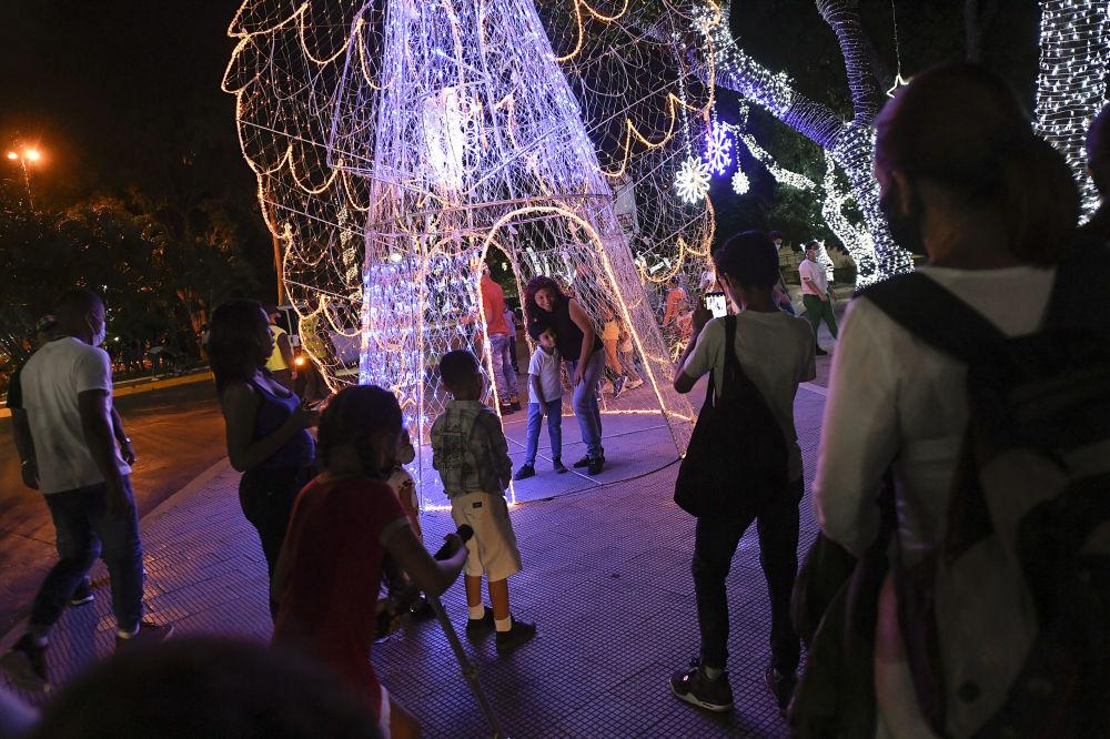 委内瑞拉的圣诞彩灯