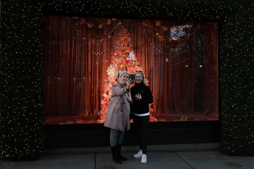 伦敦的圣诞橱窗
