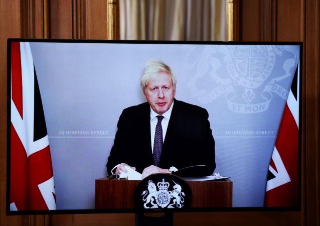 约翰逊发表圣诞致辞 激动展示脱欧协议:这是一份小礼物