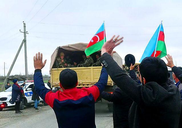 阿塞拜疆军队进入阿格达姆区