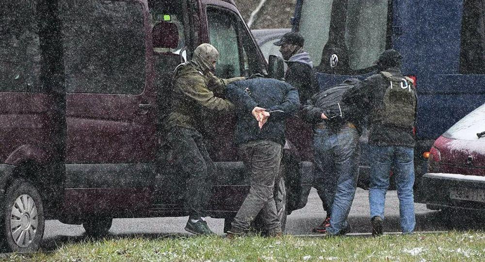 白俄罗斯抗议者被拘捕