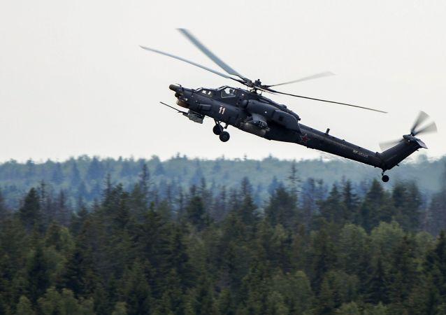 """俄空天军将在2021年底前接装五架最新型""""超级猎人""""攻击直升机"""