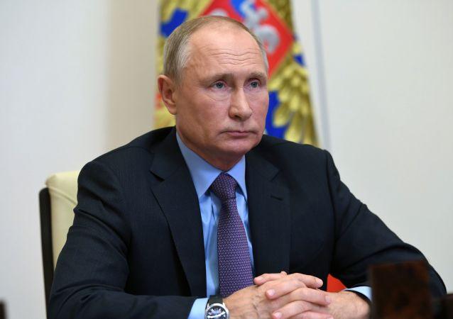 普京与政府官员召开会议