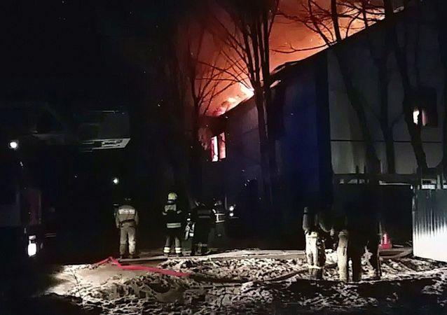 莫斯科州生物实验室大火被扑灭