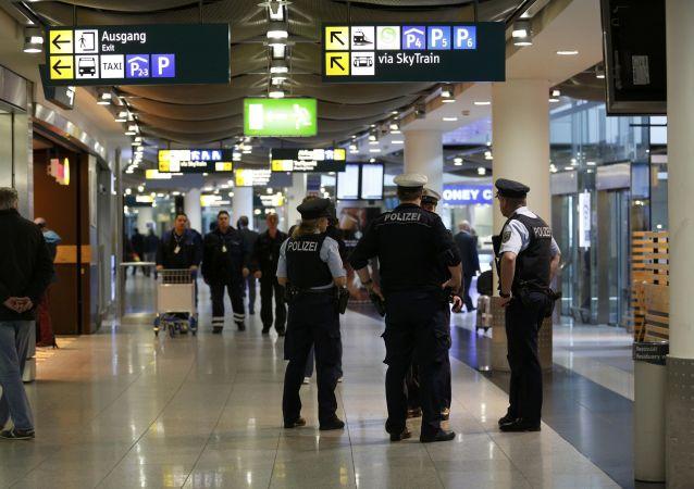 在德国杜塞尔多夫机场