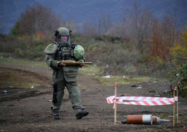 俄国防部:俄维和人员已对纳卡地区238公顷区域进行排雷作业