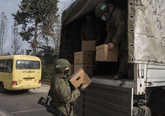 俄维和人员已向纳卡几乎所有地区提供人道主义援助