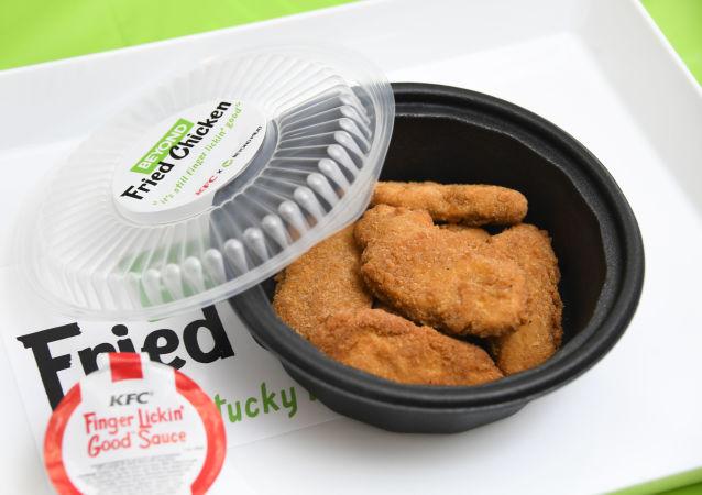 肯德基公司贩卖的Beyond Meat生产的植物肉