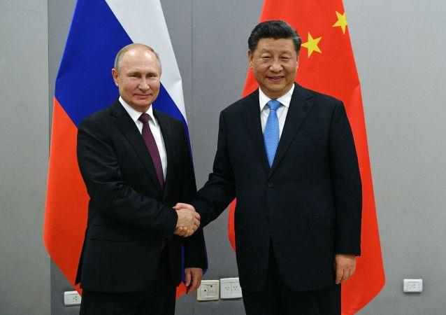 中国国家主席习近平和俄罗斯总统普京