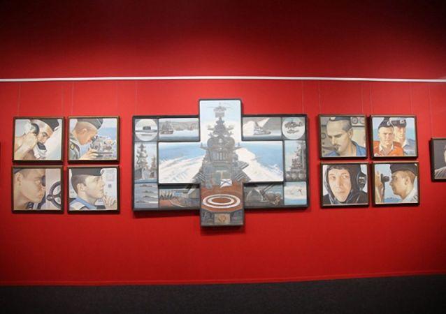 """俄罗斯格列科夫军事艺术家工作室常设展在""""爱国者""""公园开幕"""