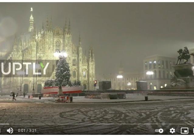 意大利城市遇大雪袭城