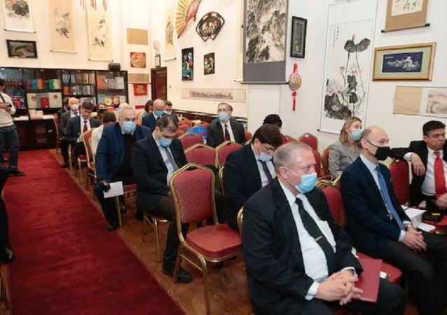 俄中友好协会会议与会人员